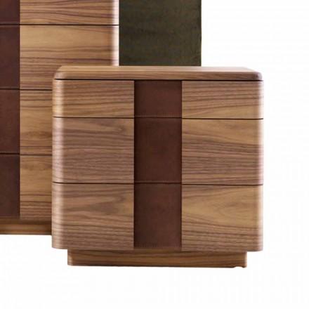 Nachttisch aus Massivholz mit modernem Design Grilli York made in Italy