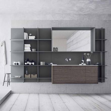 Hängende und moderne Badezimmermöbel Zusammensetzung, Design Möbel - Callisi12