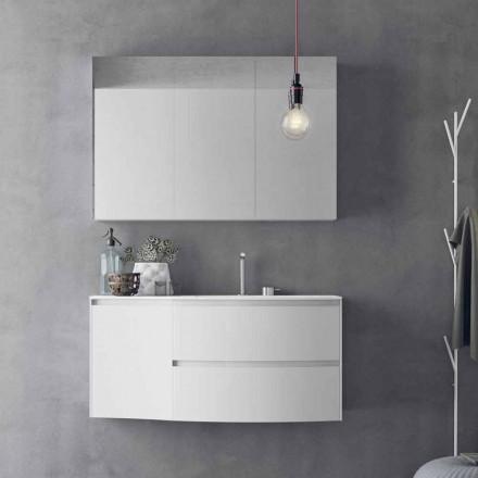 Moderne und hängende Badezimmerzusammensetzung Made in Italy Design - Callisi7