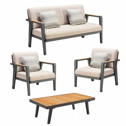 Garden Composition 2-Sitzer-Sofa, 2 Sessel und Couchtisch - Moira