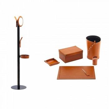 Modernes Design Büro Komposition aus Leder Made in Italy - Andrea