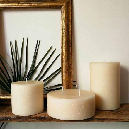 Zusammensetzung von 3 modernen runden Wachskerzen Made in Italy - Candie