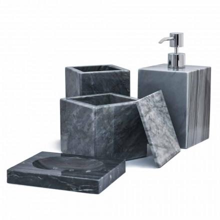 Zusammensetzung der Marmor Badzubehör Made in Italy, 4 Stück - Deano