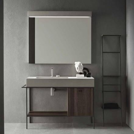 Zusammensetzung von handgefertigten Möbeln für modernes Design Badezimmer auf dem Boden - Farart3