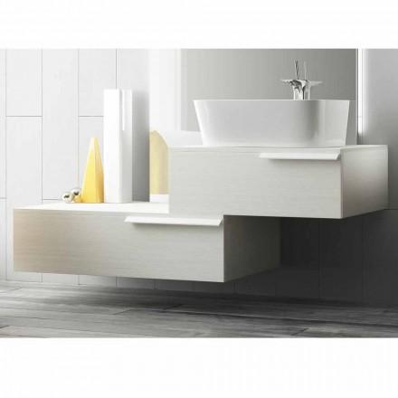 Glückliches modernes lackiertes hölzernes verschobene Badezimmermöbelzusammensetzung