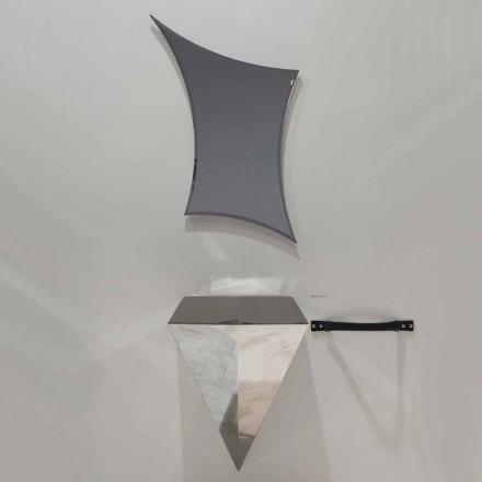 Moderne schwebende Badezimmermöbelzusammensetzung hergestellt in Italien Venedig