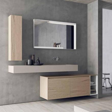 Moderne und hängende Badezimmermöbel Zusammensetzung, Made in Italy Design - Callisi1