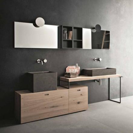 Moderne Badezimmerzusammensetzung von Möbeln im Bodendesign Made in Italy - Farart6