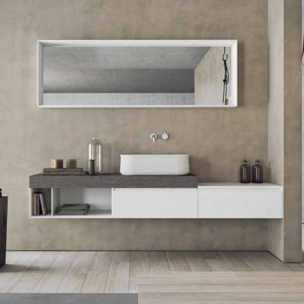 Moderne und hängende Zusammensetzung von Design-Badmöbeln - Callisi2