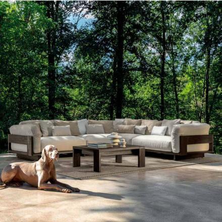 Komposition für den Außenbereich mit luxuriösem Ecksofa aus Holz - Argo von Talenti