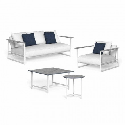 Design Wohnzimmer Zusammensetzung in Aluminium und Gres - Riviera von Talenti