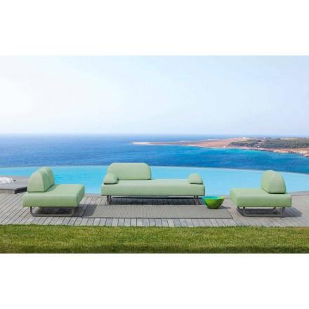 Outdoor Wohnzimmer Zusammensetzung in Made in Italy Design Stoff - Selia