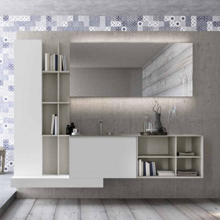 Hängende Badezimmermöbel-Komposition mit modernem Design Made in Italy - Callisi15