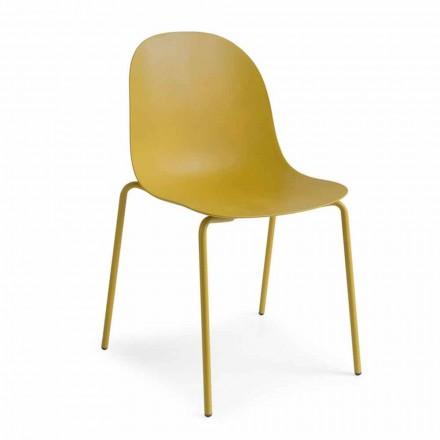 Connubia Calligaris Academy Design Stuhl aus Polypropylen, 2 Stück