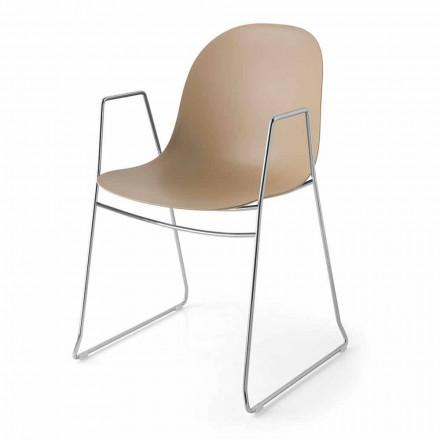 Connubia Calligaris Academy moderner Stuhl aus Polypropylen, 2 Stück