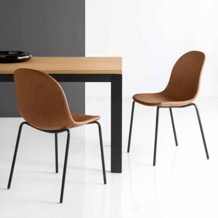 Connubia Calligaris Academy Vintage Stuhl Design Made in Italy, 2 Stück