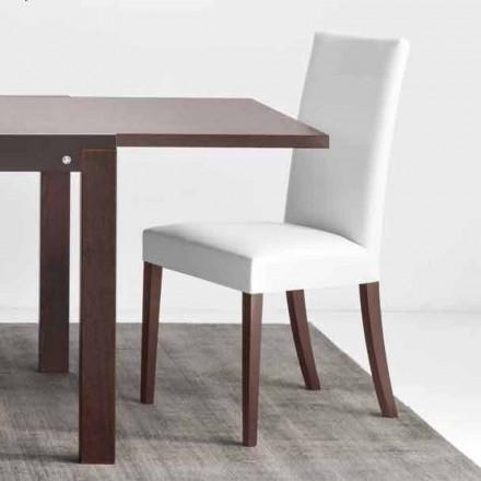 Connubia Calligaris Copenhagen Stuhl aus Kunstleder und Holz, 2 Stück