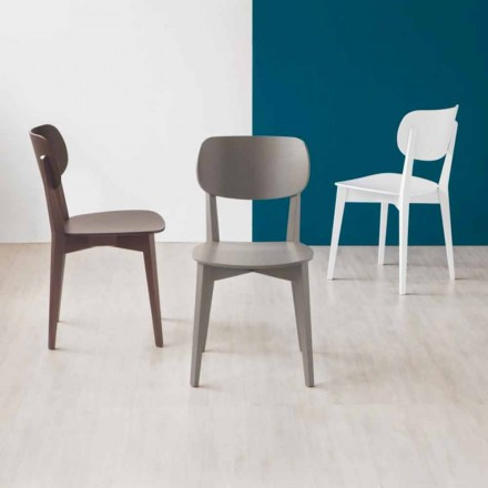 Connubia Calligaris Robinson Massivholzstuhl Made in Italy, 2 Stück