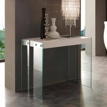 Konsole Ausziehbare modernes Design mit Beinen Fräulein aus gehärtetem Glas