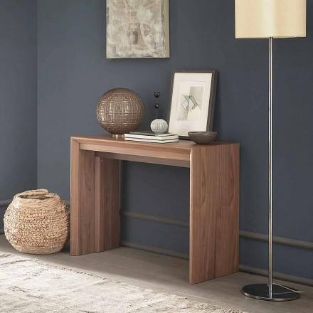 Ausziehbare Tischkonsole Bis zu 295 cm in Holz Made in Italy Design - Temocle