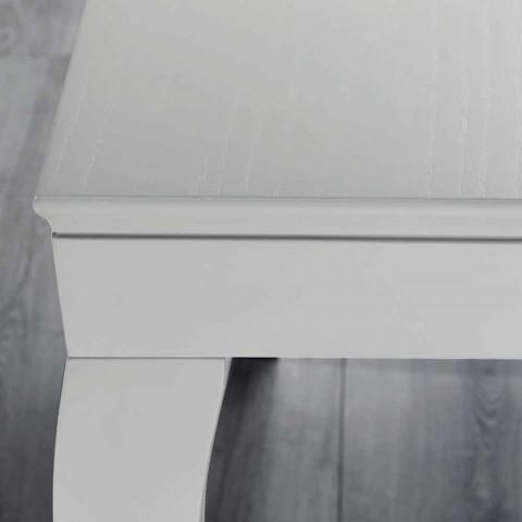 Ausziehbare Konsole aus grau grau lackiertem Eschenholz - Specht