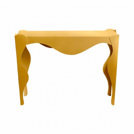Moderner Konsolentisch aus farbigem Eisen Made in Italy - Gertrude