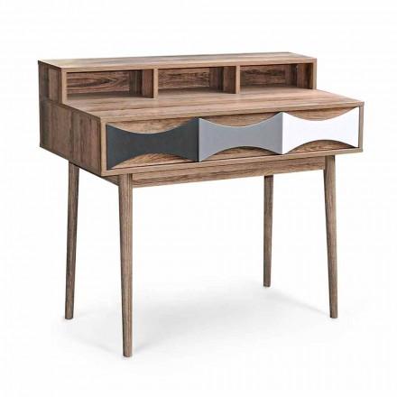 Moderne Designkonsole aus Kiefernholz und Mdf mit 3 Schubladen - Aruspice