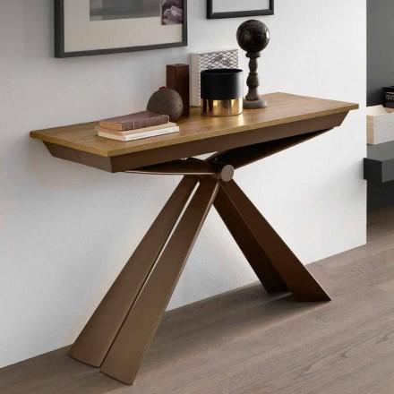 Konsole aus Holz und Metall ausziehbar Bis zu 295 cm Made in Italy - Timedio