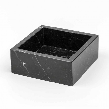 Quadratischer Behälter aus Carrara- oder Marquinia-Marmor Hergestellt in Italien - Torre