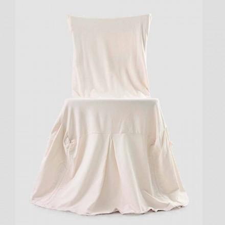 Eleganter Stuhlbezug für Wohnzimmer mit Rückenlehne aus farbiger Baumwolle - Filippa