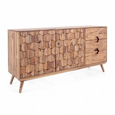 Sideboard aus Naturholz mit Türen und Schubladen Homemotion - Ventador