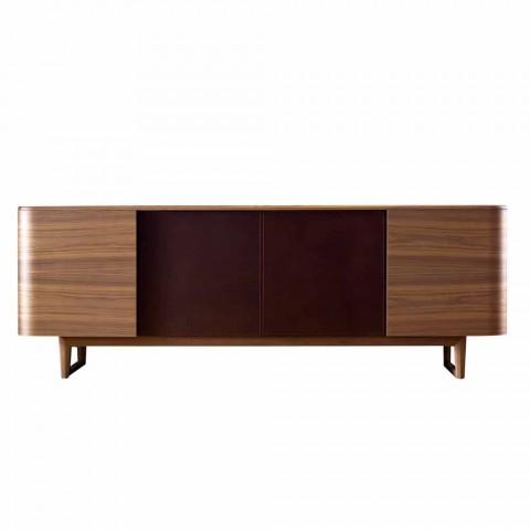 Grilli York 4 Sideboard aus Holzfurnier, hergestellt in Italien