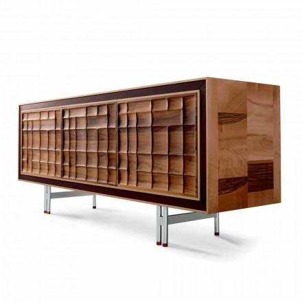 Moderne 3-türige Anrichte aus Massivholz Design Anna