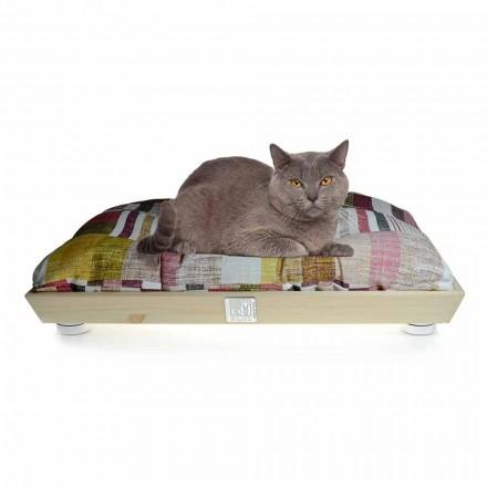 Hunde- und Katzenzwinger aus Massivholz mit waschbarem Kissen Made in Italy - Juma