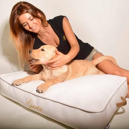 Kissen für Hunde in Eco-Leder Doggy Cloud für Innen abgedeckt