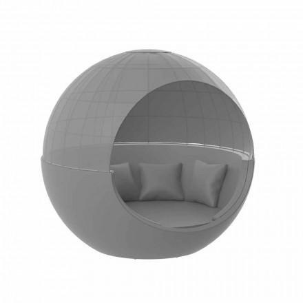 Luxus rundes Design Garden Daybed mit Sonnenschirm - Ulm Moon von Vondom