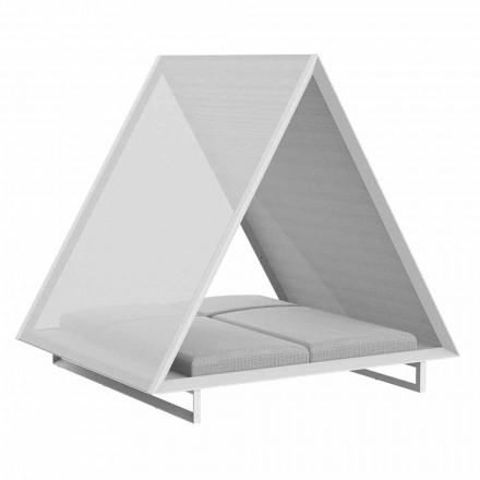 Tagesbett im Freien aus Aluminium und luxuriösem Designgewebe - Frame Vineyard von Vondom