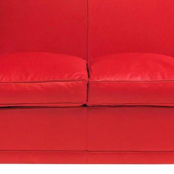 2-Sitzer-Sofa mit Lederbezug und lackierten Füßen Made in Italy - Pegolo