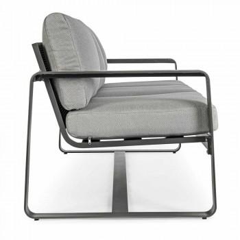 3-Sitzer-Outdoor-Sofa mit Rückenkissen und Sitz aus Stoff - Mirea