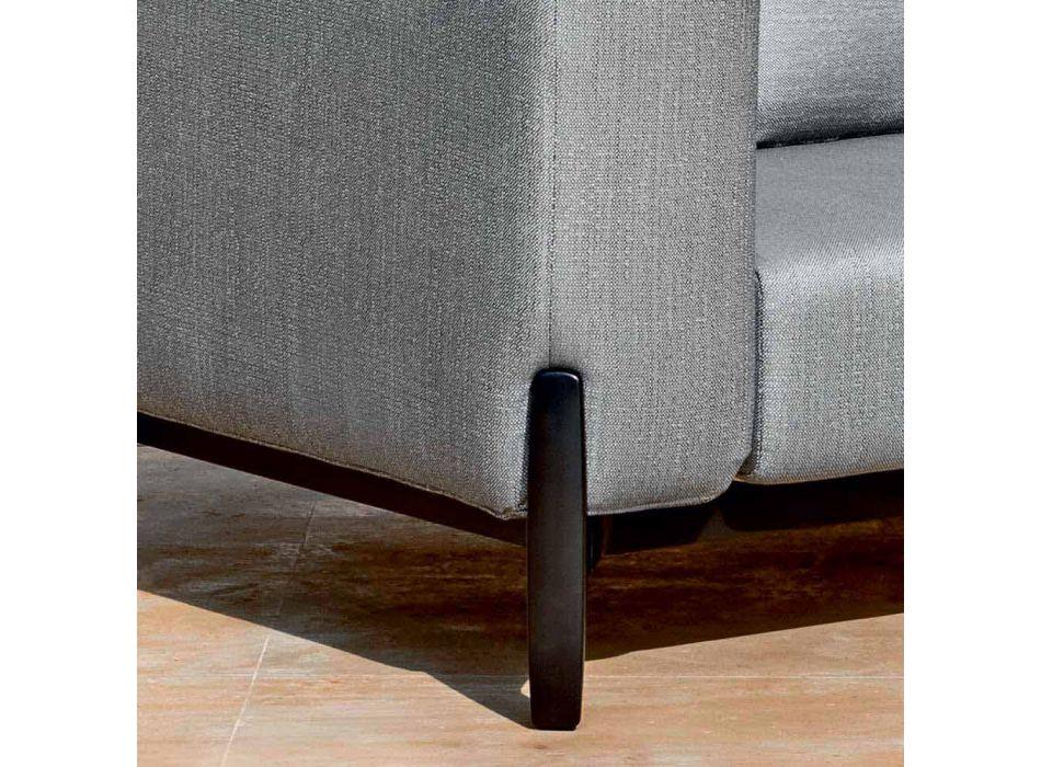 3-Sitzer-Outdoor-Sofa aus Aluminium mit Verlängerung und Chaiselongue - Filomena