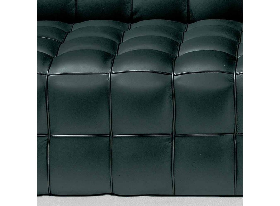 3-Sitzer-Sofa aus hochwertigem Made in Italy Leder mit Steppeffekt - Vesuv