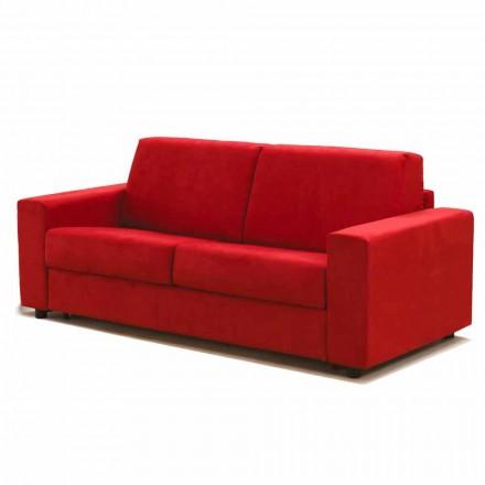 Dreisitzer-Sofa maxi modernes Design aus Kunstleder/Stoff Mora