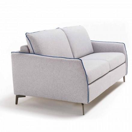 Dreisitzer-Sofa maxi L205cm modernes Design aus Kunstleder/Stoff Erica