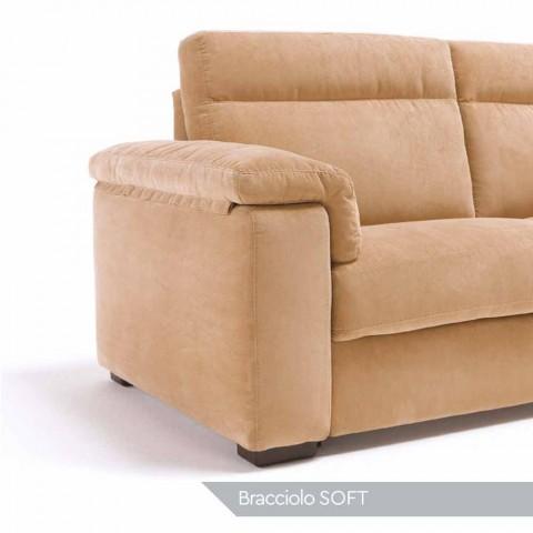 Sofa 2-Sitzer Design Lilia Stoff oder Leder, hergestellt in Italien