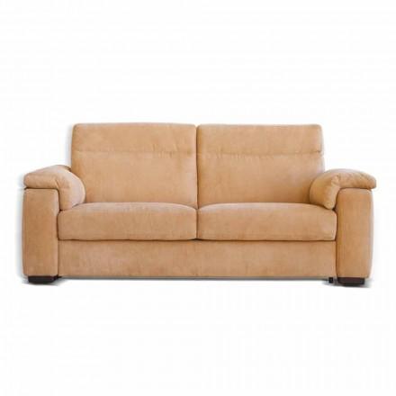 Zweisitzer-Sofa aus Stoff oder Kunstleder Design Lilia, made in Italy