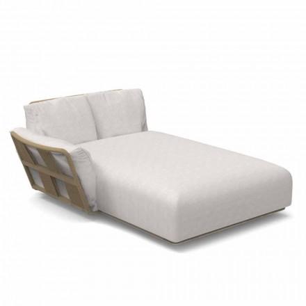 Garden Chaise Longue Sofa aus Stoff und Aluminium - Scacco von Talenti