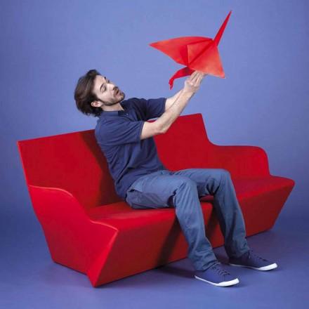 Designer Gartensofa mit Armlehnen Slide Kami Yon, hergestellt in Italien