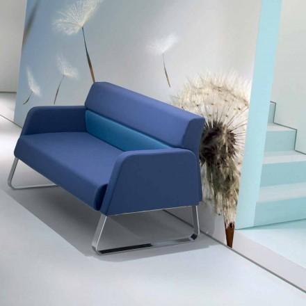 Design Wartezimmer Sofa aus Kunstleder made in Italy Ennio