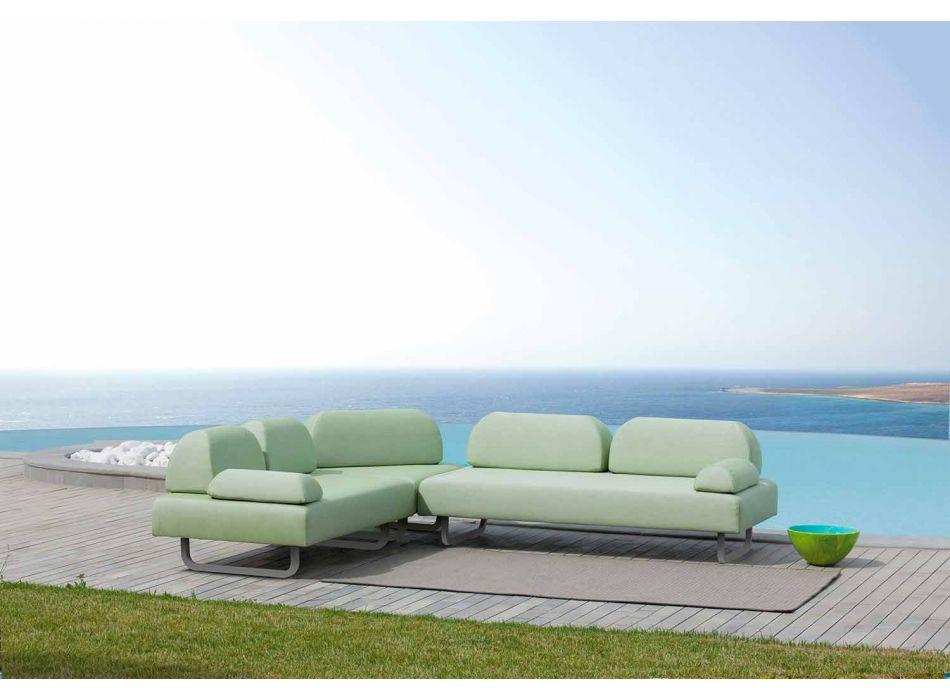 2-Sitzer-Outdoor-Sofa aus Stoff und Metall Made in Italy Design - Selia