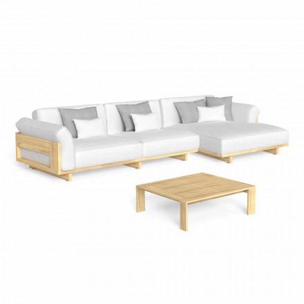Outdoor Lounge mit luxuriösem Holzsofa und Couchtisch - Argo by Talenti
